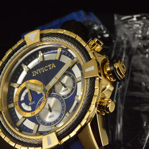 NEW Invicta Bolt 49MM Blue Dial Blue Strap Watch